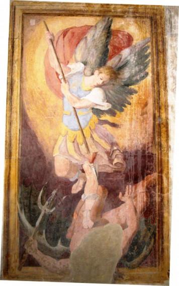 Affresco raffigurante San Michele Arcangelo chiesa della Consolazione a Caprarola