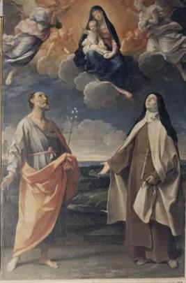 Tela del Guido Reni nella chiesa di S. Teresa a Caprarola