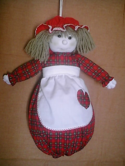 Cod bam01 bambola portasacchetti spesa - Porta sacchetti ...