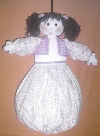 Cod. bam02 bambola portasacchetti spesa