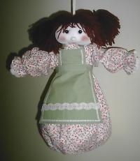 Cod. bam03 bambola portasacchetti spesa