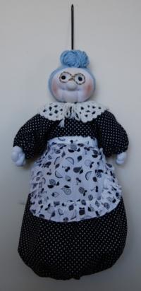 Cod. bam04 bambola portasacchetti spesa