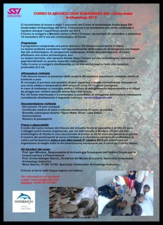 Corso di archeologia subacquea
