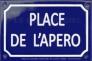 L'Apéro, c'est en français. Aperitivi in lingua.
