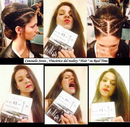 """Consuelo Stoto , vincitrice di """" Hair """" su Real Time , il suo selfie e la sua acconciatura per Jean , personaggio di Orbeth L'oscura minaccia scritto da Marco Perrone"""