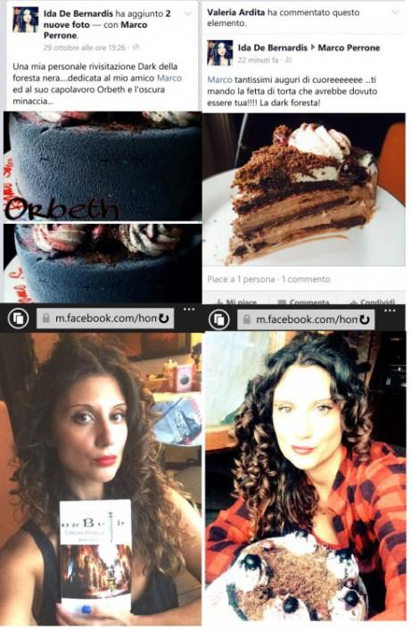 """Ida De Bernardis , fantasiosa protagonista di Bake Off 3 su Real Time , e la sua torta ispirata al tema dark fantasy del romanzo trilogia """" Orbeth - L'oscura minaccia """" dello scrittore Marco Perrone"""