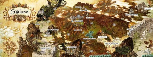 La mappa del continente Soluna
