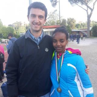 Genet 4° posto nel Giavellotto con Fabio suo Coach
