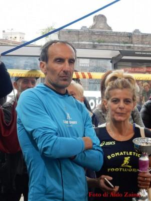 La premiazione di Pina con Sergio