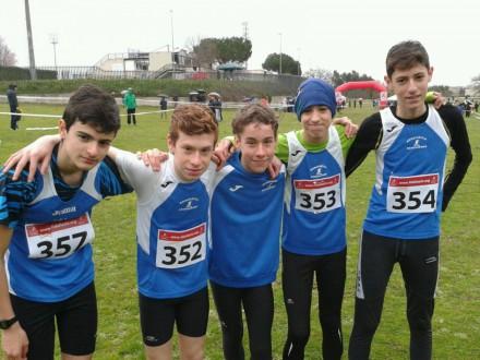 Squadra Cadetti con Francecso,Luca,Jacopo,Filippo ed Andrea