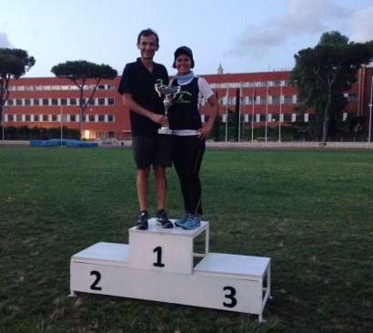 Maurizio e Delly ritirano il Trofeo Velocità/Mezzofondo