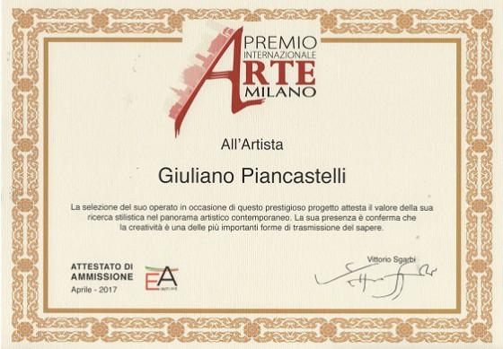 Attestato del Prof. Vittorio Sgarbi al Pittore Piancastelli