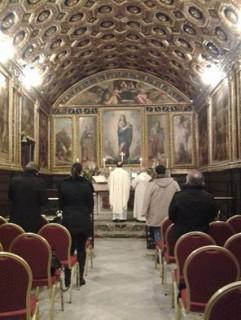 Celebrazione nella Cappella d'oro
