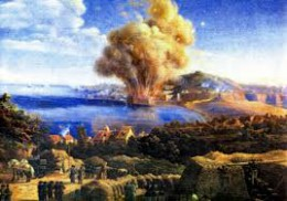 Asedio de Gaeta, Explosión en Sant'Antonio