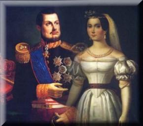 El rey Fernando II y la Beata María Cristina
