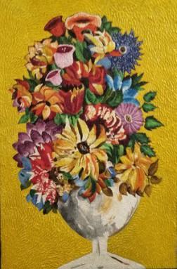 FIORI di Laura Trenzetti, pittrice fantastica e immaginativa